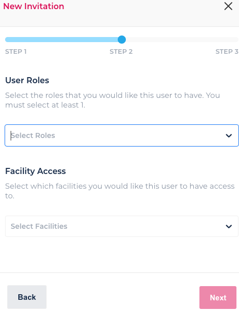 Roles and facility access